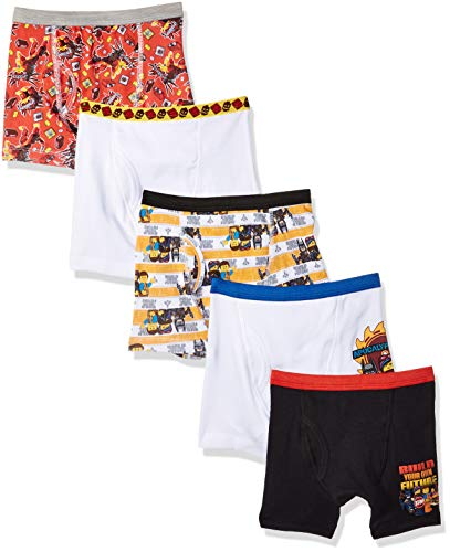 LEGO Boys Little MultiCharacter Underwear Multipacks, LM2 Boxer Brief, 4