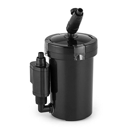 Waldbeck Clearflow 6UVL - Filtro Esterno per Acquario, Motore a Pompa 6 W, 4 Livelli, 400 Litri/Ora, per acquari con Una capacità di 120 Litri, Chiairificatore UV da 9 Watt, Cestello filtrante