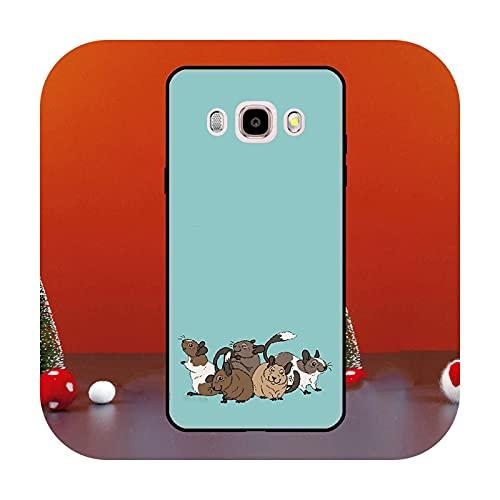 Cute Cartoon Animal Rata para Samsung Galaxy J1 J3 J5 J7 2016 A6 A8 J4 J6 Plus J8 A7 A9 2018 A3 A5 2017 Funda para teléfono K22229-A6 Plus 2018