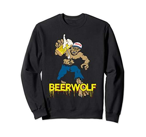 BeerWolf - Wolf mit Becher Bier Lustiges Halloween-T-Shirt Sweatshirt