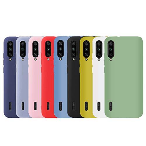 YiKaDa - 9 x Cover Xiaomi Mi A3, Custodia [Ultra Sottile] Morbida in Silicone TPU, Cover per Xiaomi A3 (9 Colori) - [ Nero + Rosso + Blu + Rosa + Verde + Traslucido + Giallo + Blu Chiaro + Bianco ]