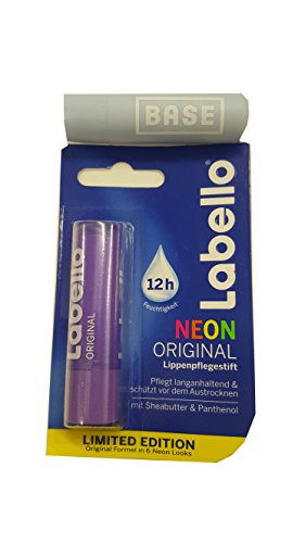 Labello (Beiersdorf) Neon LILA Lippenpflegestift 4,8 g.Limited Edition + Werbelippi
