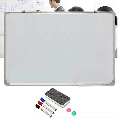 Pizarra blanca magnética con 3 rotuladores, 2 imanes y 1 borrador, pizarra de borrado en seco para niños, hogar, cocina, oficina, pizarras blancas para paredes de 50 x 35 cm