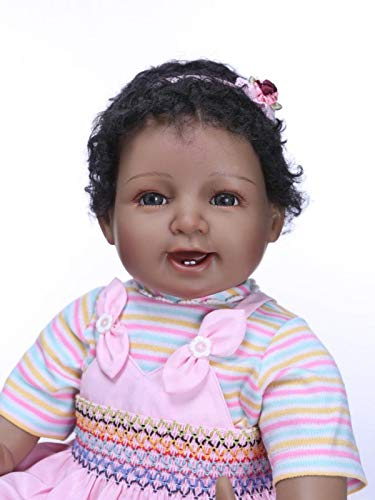 ZHANGZ Hand made soft silicone 22-inch reborn baby doll for girls lifelike acrylic newborn girl dolls that look real children's birthday gifts