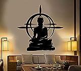 Vintage Buddha Marke Vinyl Wandaufkleber Abnehmbare