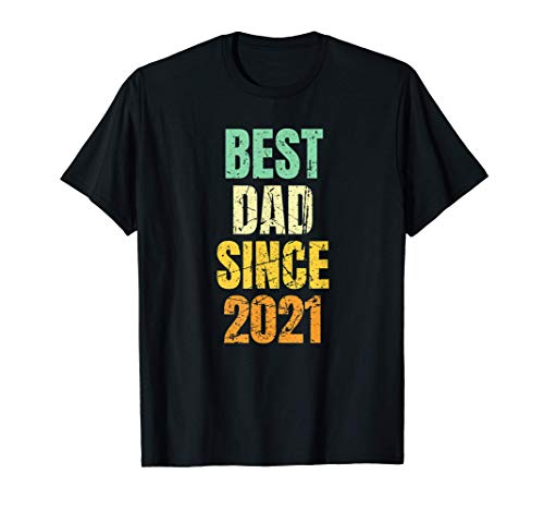 Homme Distressed/Vintage Best Dad Since 2021   New Baby T-Shirt