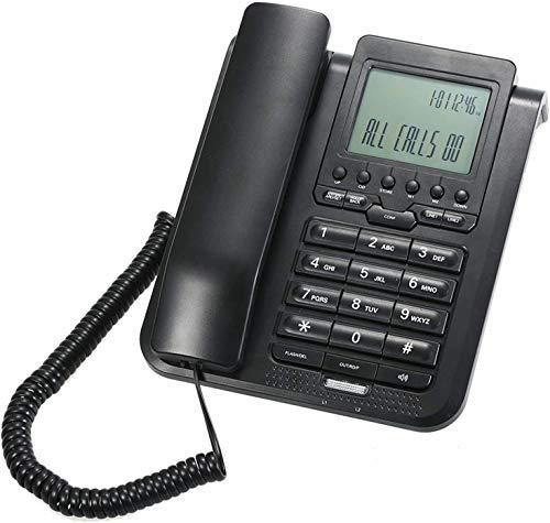 ZHIRCEKE Botón Grande Teléfono, Teléfonos de línea Fija Teléfono con Cable Digital de 2 líneas Teléfono de teléfono Fijo con Pantalla LCD Soporte Conferencia de 3 vías Llamada/Redial