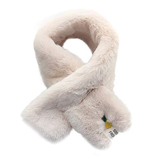 Lenfesh Fulares Mujer Estolas de Piel Sintética Para Mujer Bufandas de Invierno Mujer Chales Mantón de pelo Caliente
