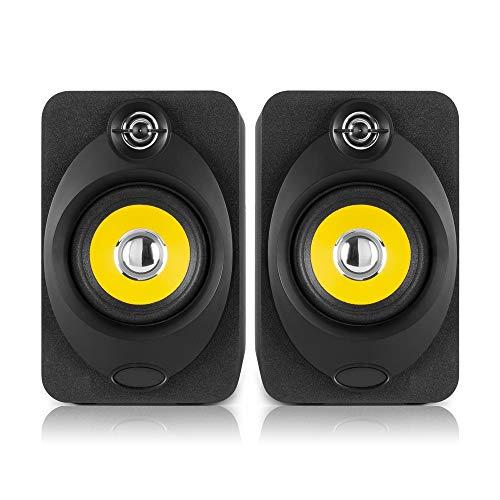 VONYX XP40 Bluetooth Active Powered Studio Monitor Speakers 4' Media...
