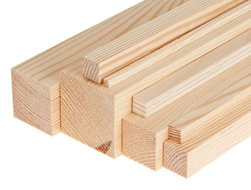 Vigas / Morali / listones cepillados de abeto 40 x 60 x 1000 mm (1 unidad).