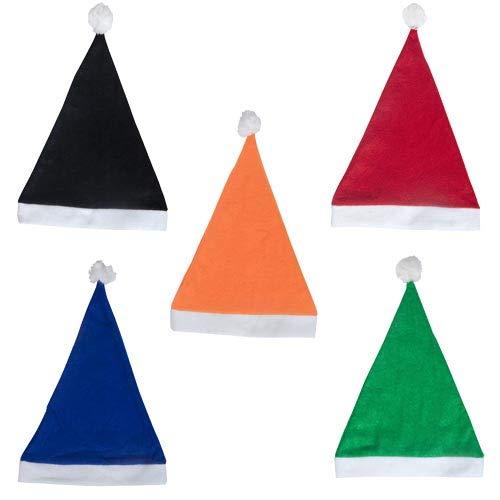 DISOK Lote de 50 Gorros de Papa Noel de Colores Surtidos -...