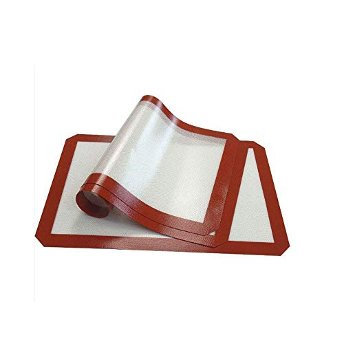 Tappetino da forno in silicone - Set da 3 (42x29,5 cm) antiaderente, resistenza alla temperatura (-40 + 300F), rivestimento in silicone antiaderente per cuocere padelle e rotoli - Pasticceria (B)
