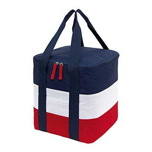 Tops Kühltasche Isoliertasche maritimen Look Getränketasche 2 Tragegriffe Picknick Kühltasche