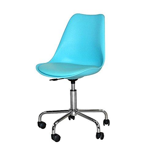 Bureaustoel MELANIE turquoise/chroom