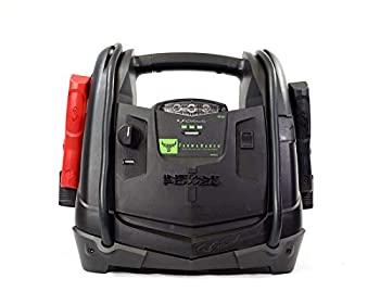 Schumacher Rechargeable AGM Jump Starter for Gas Diesel Vehicles 950 Amp with 12V Power Station to Charge Phones Accessories