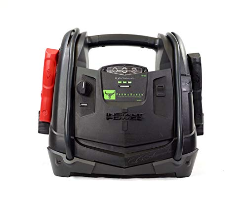 Schumacher Rechargeable AGM Jump Starter for Gas, Diesel Vehicles – 950 Amp with 12V Power Station to Charge Phones, Accessories
