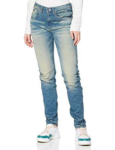 G-STAR RAW Damen Jeans Arc 3d Low Waist Boyfriend Jeans, Blau (Light Aged 424), 25W / 30L