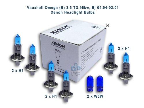 ampoules de phare de voiture d'effet de xénon H1 H1 H1 W5W, 8-pack