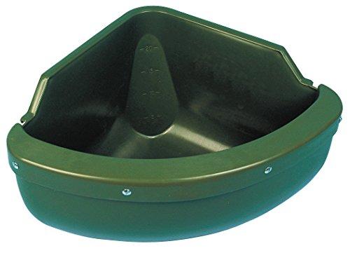 Kerbl 32592 Eck-Futtertrog incl. Beißkante, Kunststoff