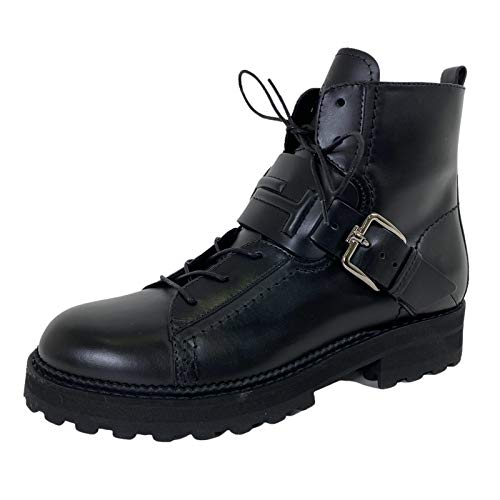 Tod's D68 Anfibio Pelle Donna Black Leather Shoe Boot Woman [35]
