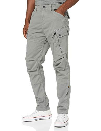 G-STAR RAW Mens Roxic Straight Tapered Cargo Casual Pants, lt Building gd C096-B576, 34W / L32