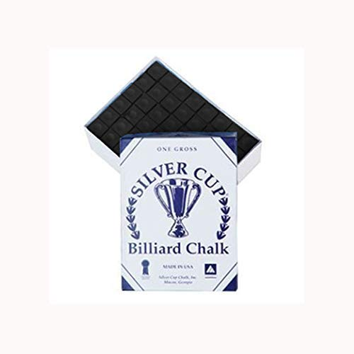 Silver Cup Marque Billard Craie, Boîte de 144, Couleur Noir
