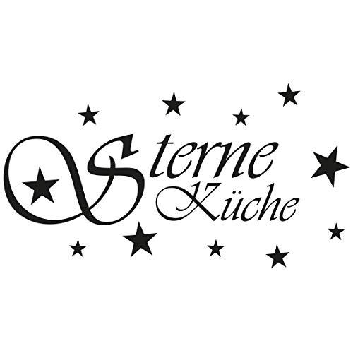 Wandtattoo Sterne Küche 002 - Größe: S - 30cm x 16cm - 23 mögliche Farben