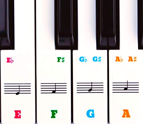 Colourful Piano Stickers. High Quality, Transparent, Removable, Markless,...