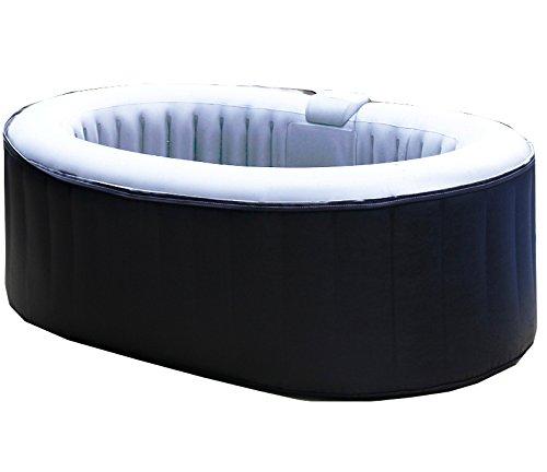 Aqua Spa 81005 Whirlpool oval 2 Personen, grau / hellgrau