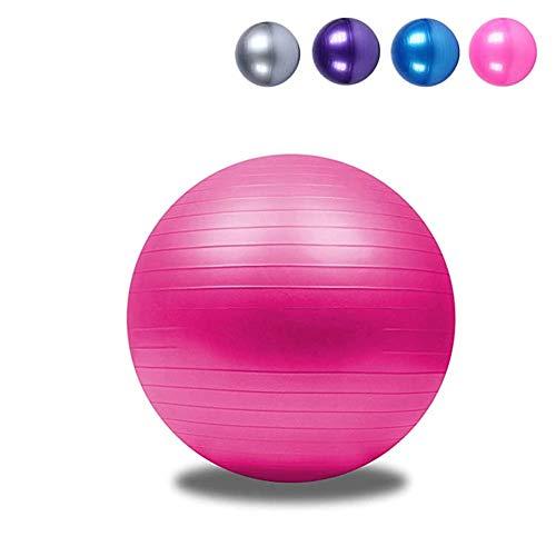FCFLXJ Exercise Ball 45cm 55cm 65cm 75cm 85cm,Anti-Burst Yoga Ball - Gym Ball for Fitness, Pilates, Labour, Birthing Ball, Swiss Ball,Pink,85CM