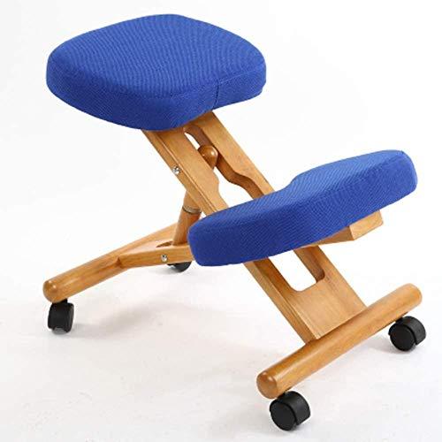 Silla ergonómica de madera maciza para ordenador que puede corregir la columna vertebral y aliviar el dolor Yoga Meditación Silla