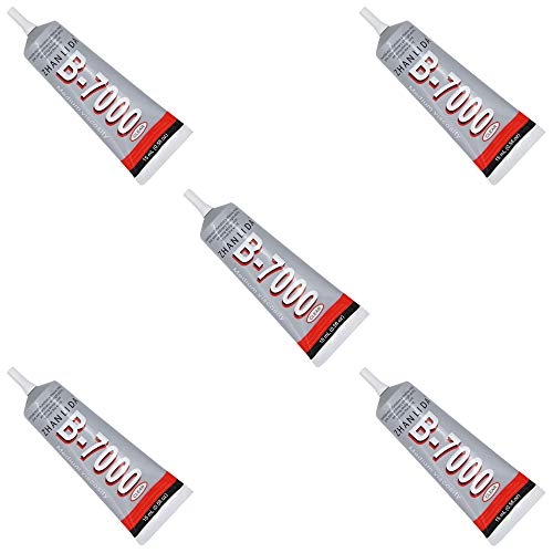 MMOBIEL 5er Pack B-7000 15 ML Mehrzweck Flüssig Kleber Industrie Extrem Stark Transperent Klebstoff 15ML / 0,51 OZ Tube für Kleingeräte und Smartphone