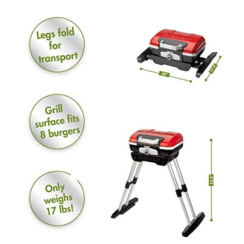 Cuisinart CGG-180 Petit Gourmet Portable Gas Grill with VersaStand 5