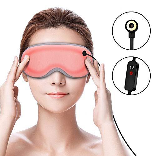 ホットアイマスク CenBlueストア 遮光 安眠 三段階の温度調節 疲れ目を緩和(耳栓付き付き)
