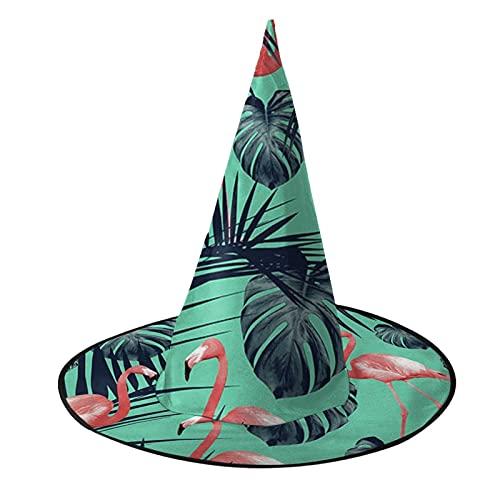 Disfraz unisex de bruja de Halloween para fiesta de disfraces de flamenco tropical, accesorio de cosplay para niños y mujeres, color negro