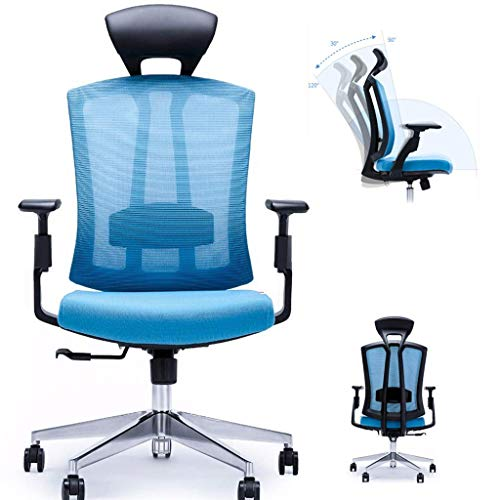 Video Game Chair,Rotating Ergonomic Ergonomic Office Chair, 90-120° Recline Adjustment Three-Dimensional Adjustable armrest Efficient Work Swivel Task Chair - Study/Gaming with Backrest