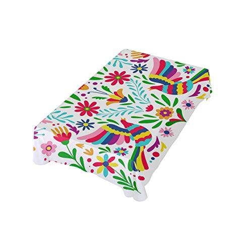 DXG1 Tischdecke im mexikanischen Stil 54 x 54 cm für Zuhause, Bankett, Restaurant, quadratisch, Polyesterstoff, Tischdecke 137 x 137 cm, 60x60(in)/152x152 (cm)