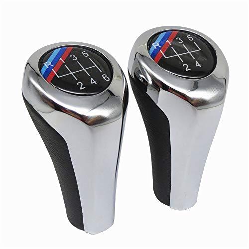 DYBANP Schaltknauf, für BMW E30 E32 E36 E39 E34 Z3 E46 E90 E91 E92 X1 X3 X5, Schalthebel 5/6 Gang