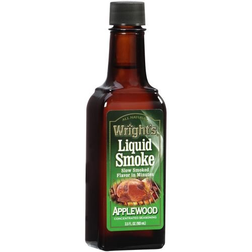 Wrights All Natural Liquid Smoke Applewood Seasoning, 3.5 Fluid Ounce -- 12 per case.