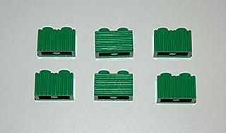 6 Lego Eisenbahn TRAIN Geriffelter geriffelte Steine GRÜN