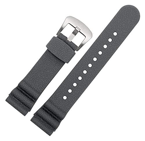 Beapet Silicone Watch Band 22mm Silicone Watch Band Men Mujer Mujer Deporte Correa de Goma Impermeable Pulsera de muñeca (Color : 22mm, Size : Grey)