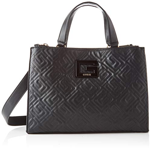 Guess Janay Status Satchel, Bags Donna, Black, One Size