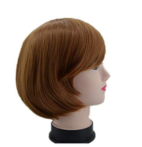 Frange oblique perruque rayures diagonales courte perruque ondulée fibre de fibre résistant à la chaleur coiffure de parti