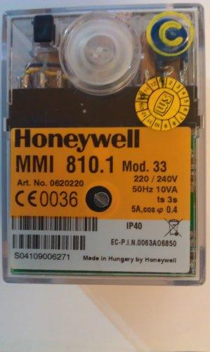 Brennersteuergerät Honeywell (Satronic) MMI810.1 Mod. 33, für Gasgebläsebrenner