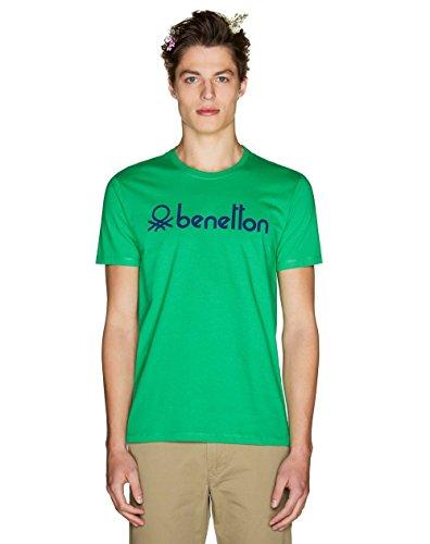 United Colors of Benetton T-Shirt Camiseta, Verde (Bright Green 108), Medium para Hombre