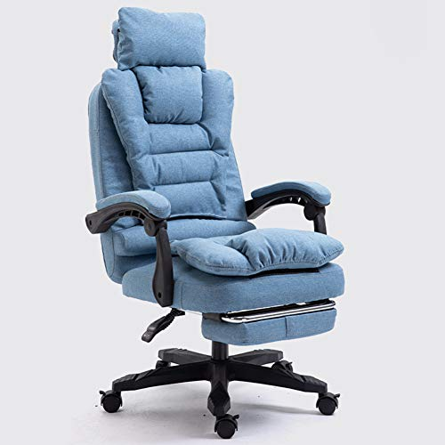 TopJiä Ergonomic Office Chair with Lumbar Support and Headrest,Comfortable Fabric Desk Chair with Removable Seat Cushion,Executive Chair Computer Chair 155° Recline with Wheels and Armrests