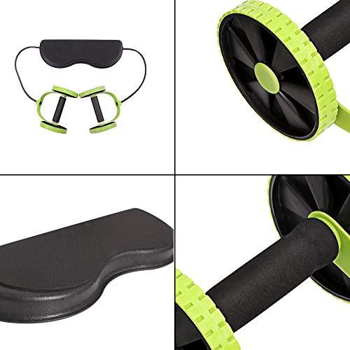 WingFly AB Ruote Roller Stretch Elastico Resistenza Addominale Corda da tiro per Addestratore di Muscoli Addominali Esercizio Palestra a Casa