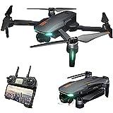 WECDS-E Drone de fotografía Plegable GD91 Pro 4K GPS Antena Plegable sin escobillas de 2 Ejes Tres cámaras Quadcopter Reconocimiento de Gestos Avión con Bolsa de Almacenamiento
