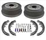 (2) Rear Brake Drums & Brake Shoes + Springs 4PC Kit 2000-2001 Dodge Ram 1500