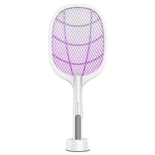 Gaoominy Raqueta Portátil para Mosquitos Asesino de Taza Eliminador de Insectos de Mano Eléctrico Doméstico Raqueta Matamoscas de Insectos